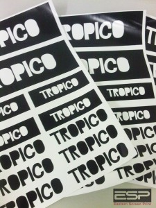 Printed sticker sheets for Tropico