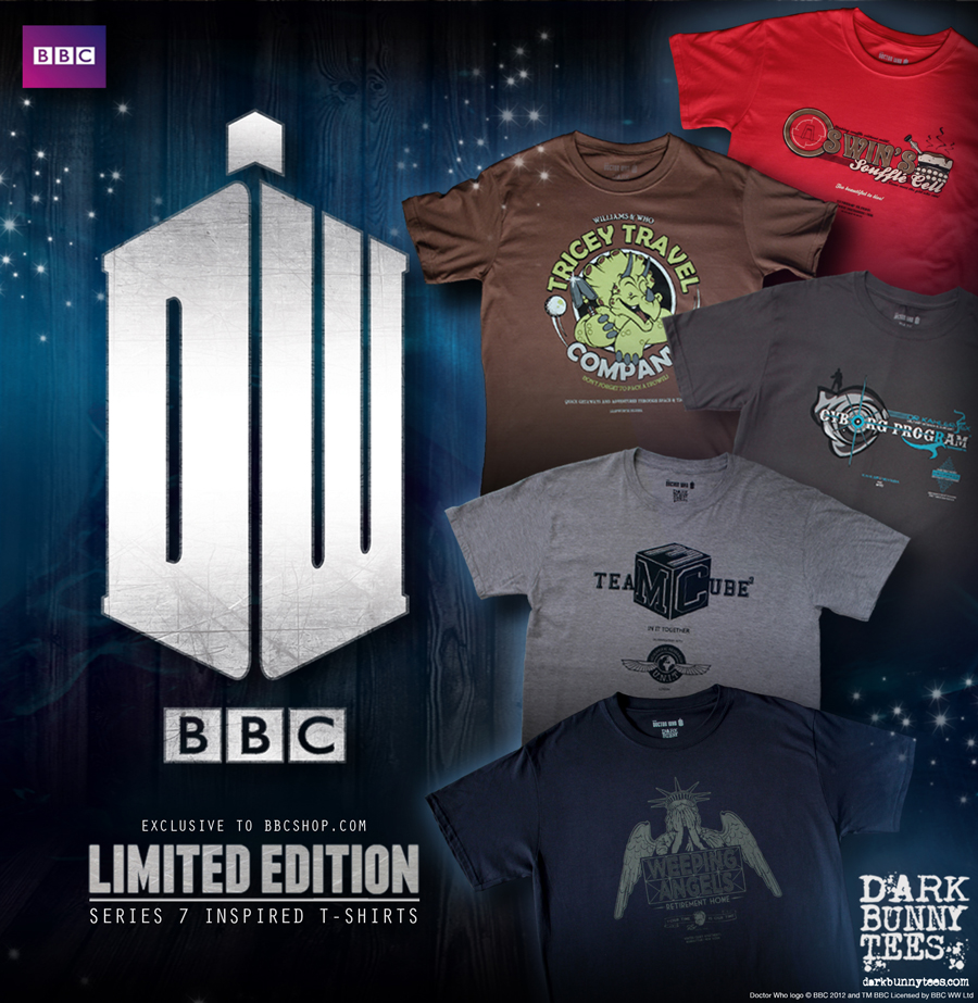 BBC Dr Who T Shirts by Dark Bunny Tees