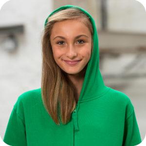 College zip hoodie