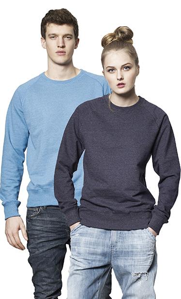 SA40 Organic Mens/Unisex Raglan Sweatshirts