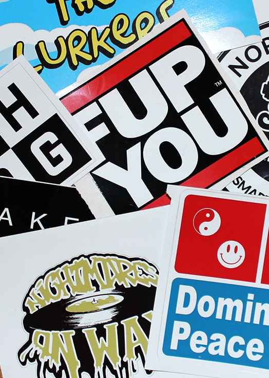 8cm Square Vinyl stickers (contour cut shape available)